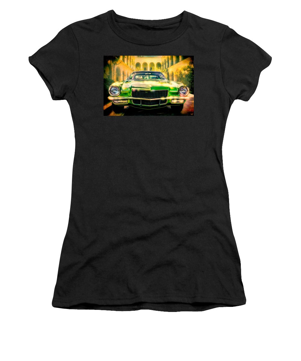 Automobile Women's T-Shirt (Athletic Fit) featuring the photograph California 1970 Camaro by Chris Lord