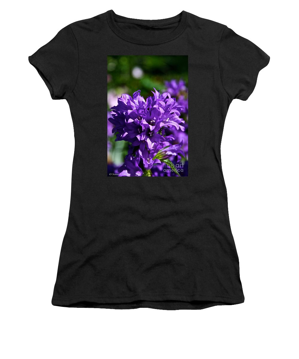 Plant Women's T-Shirt (Athletic Fit) featuring the photograph Campanula Glomerata by Susan Herber