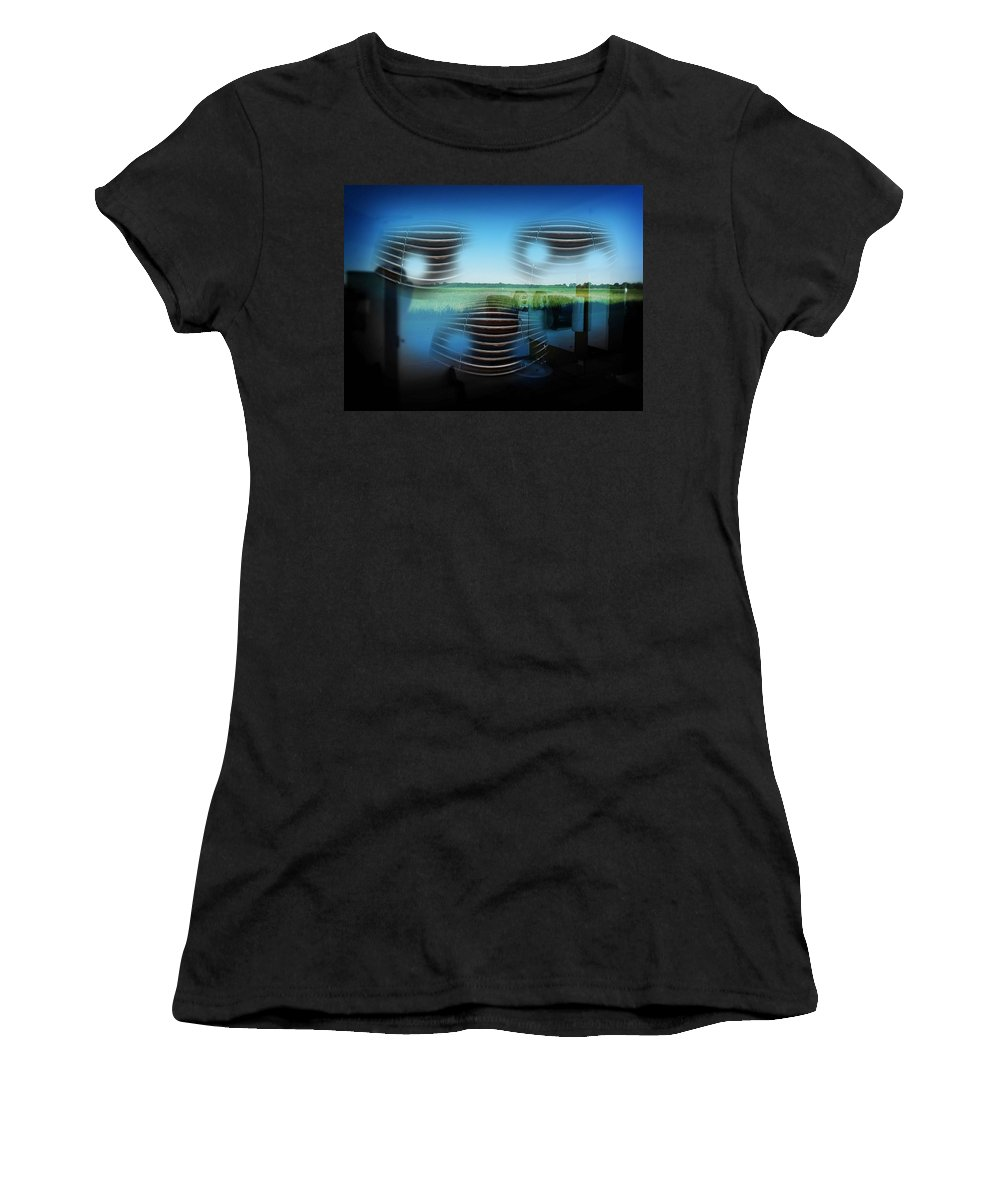 Car Women's T-Shirt (Athletic Fit) featuring the photograph Car Face by Charles Stuart
