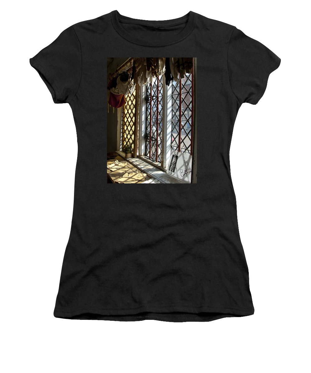 Cecilienhof Palace Berlin Germany Women's T-Shirt (Athletic Fit) featuring the photograph Cecilenhof Palace Window by Jon Berghoff