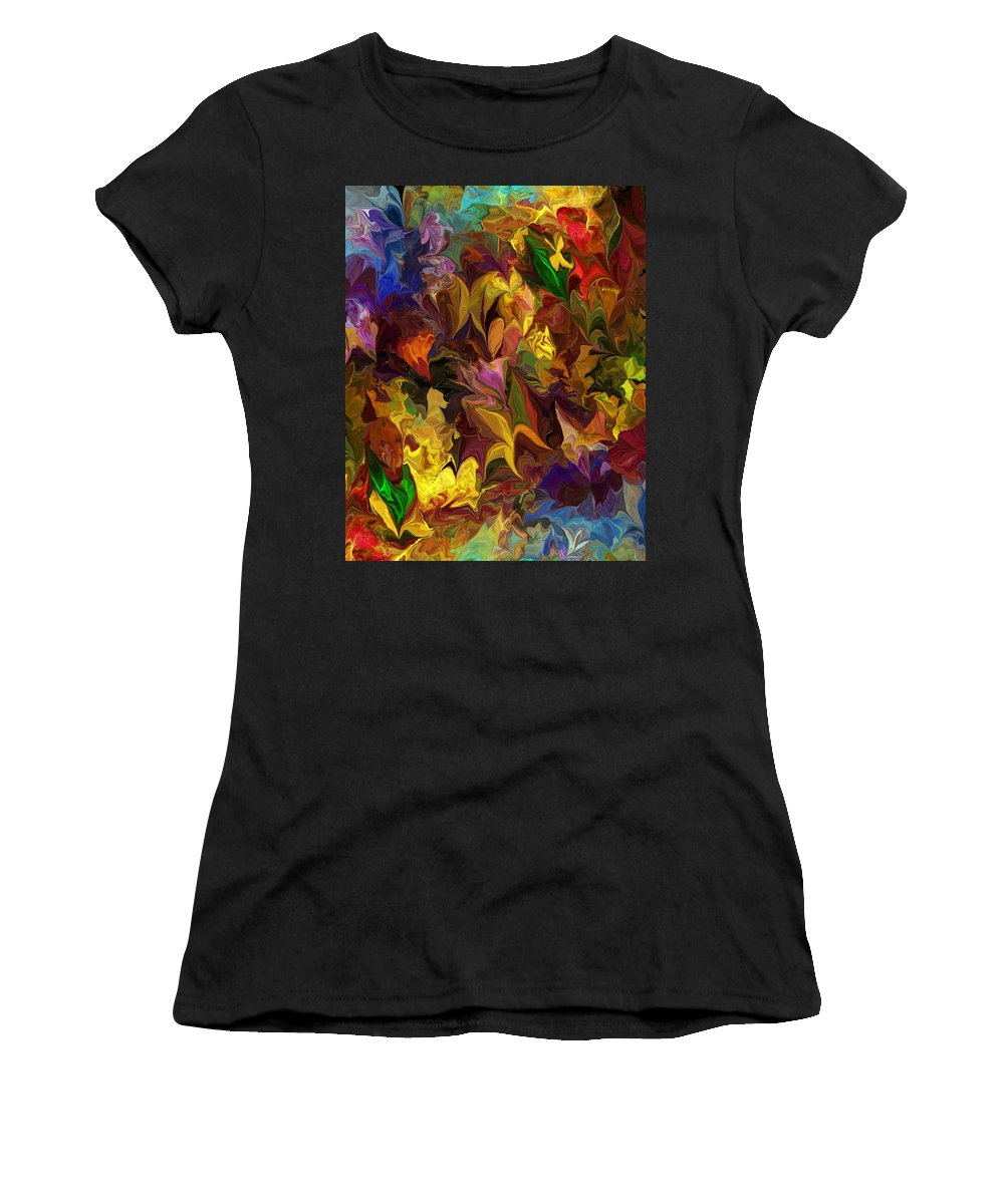 Fine Art Women's T-Shirt featuring the digital art Chaotic Canvas by David Lane