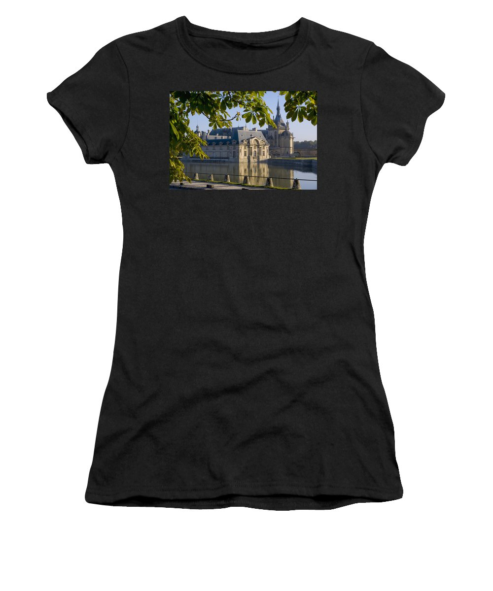 Photography Women's T-Shirt (Athletic Fit) featuring the photograph Chateau De Chantilly by Axiom Photographic