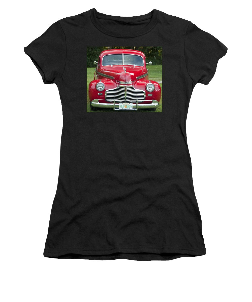 Photography Women's T-Shirt (Athletic Fit) featuring the photograph Chevrolet 1941 by Steven Natanson