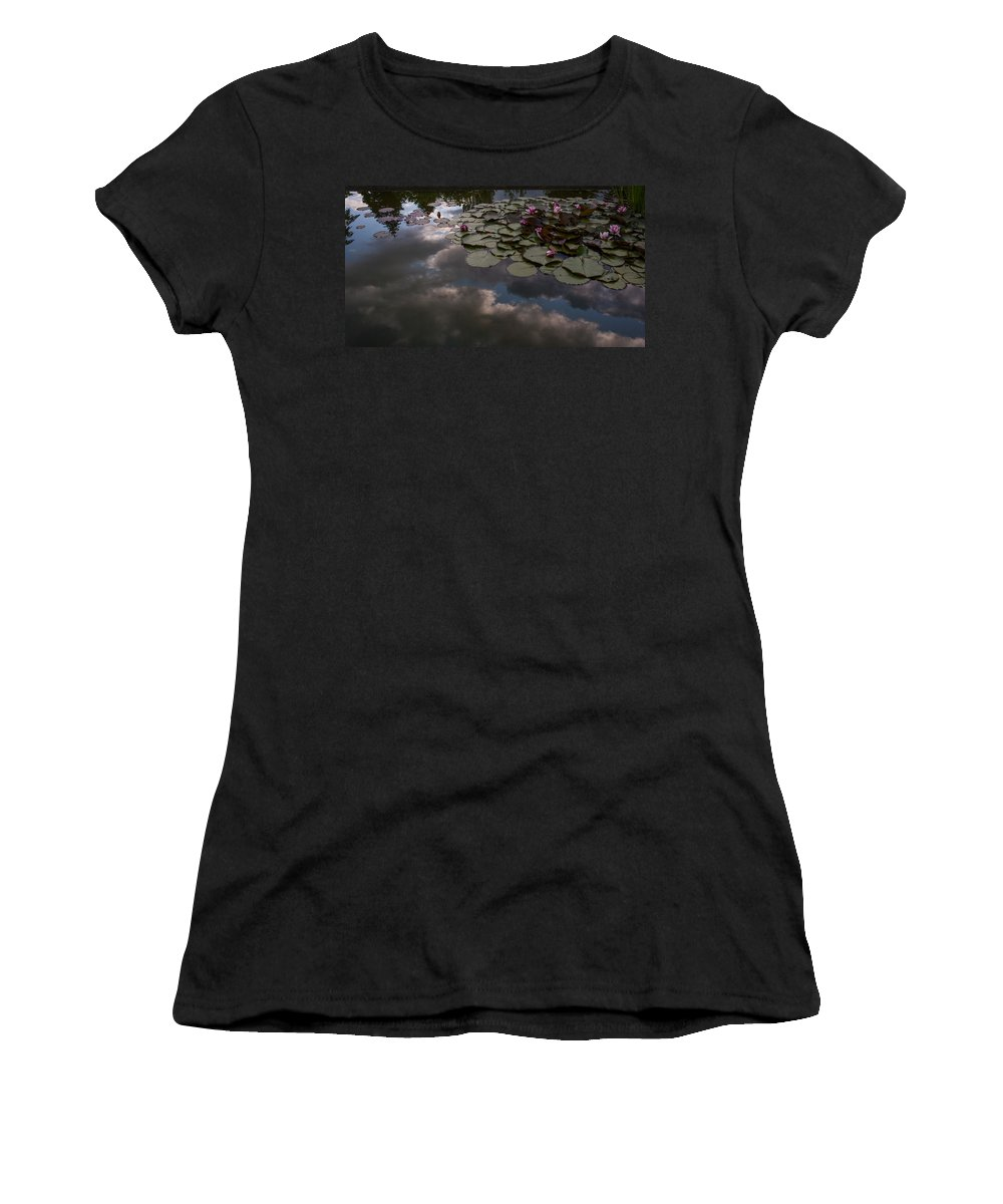 Pond Women's T-Shirt (Athletic Fit) featuring the photograph Clouded Pond by Mike Reid