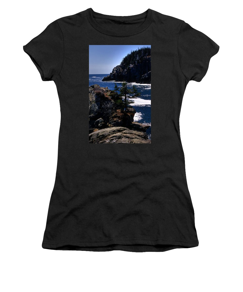 Me Women's T-Shirt (Athletic Fit) featuring the photograph Coastal Maine by Skip Willits