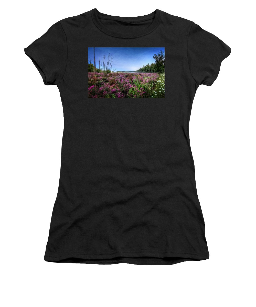 Swamp Women's T-Shirt (Athletic Fit) featuring the photograph Color Of Summer by Everet Regal