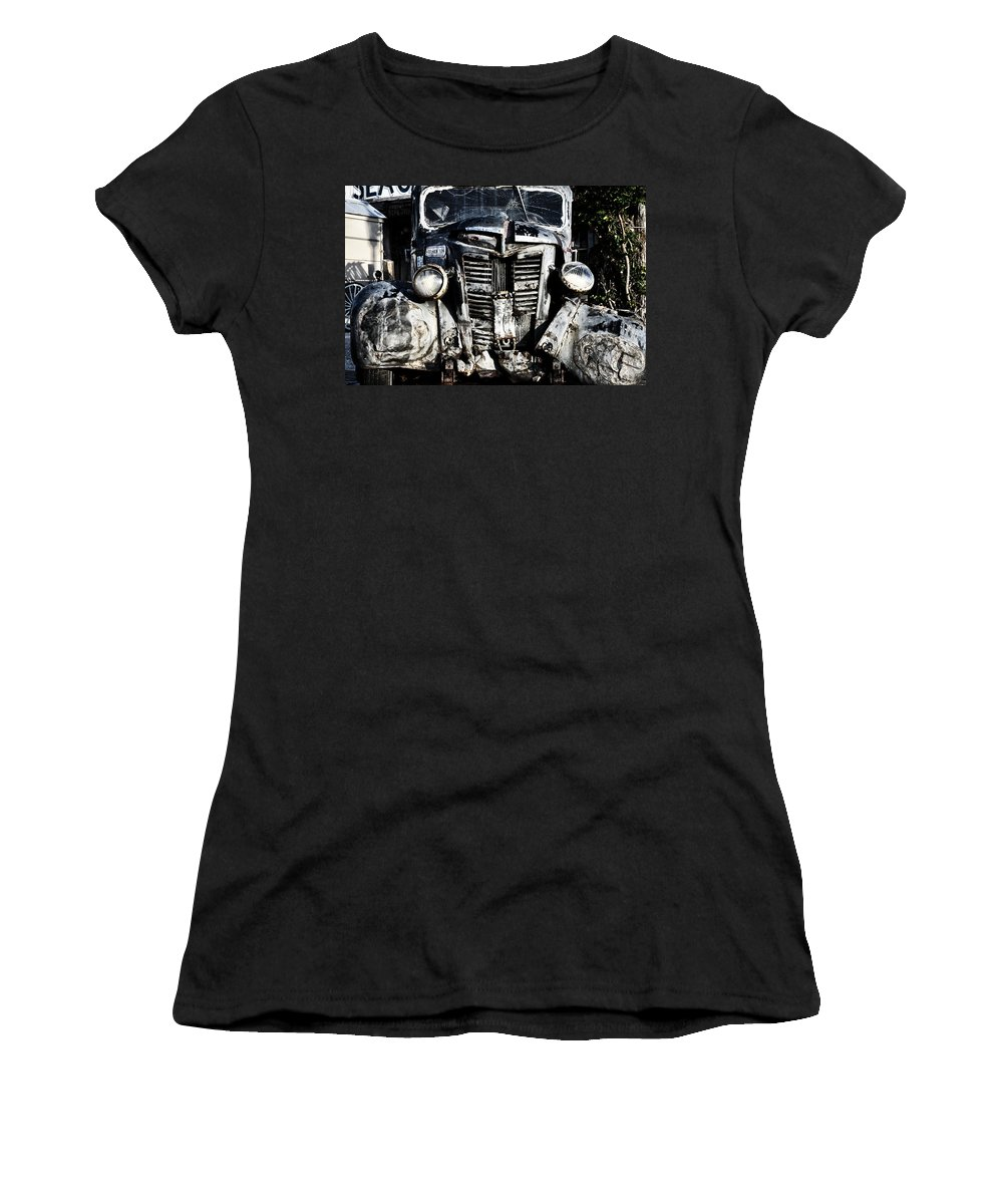 Crash Women's T-Shirt (Athletic Fit) featuring the photograph Crash by Bill Cannon