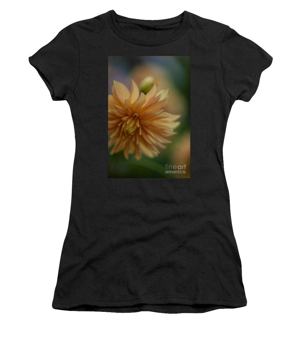 Dahlia Women's T-Shirt featuring the photograph Dahlias Pastel by Mike Reid
