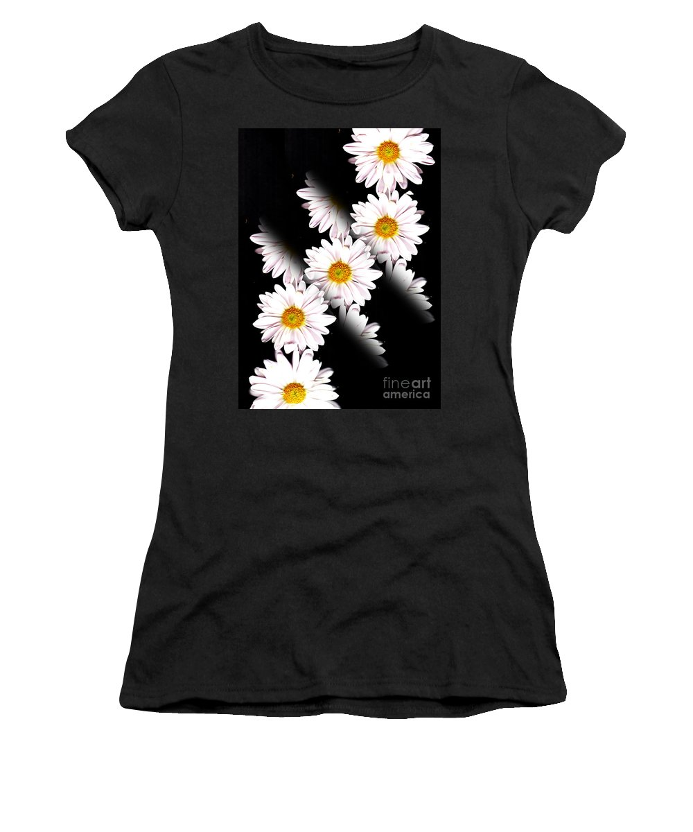 Daisy Women's T-Shirt (Athletic Fit) featuring the photograph Daisy Split by Traci Cottingham