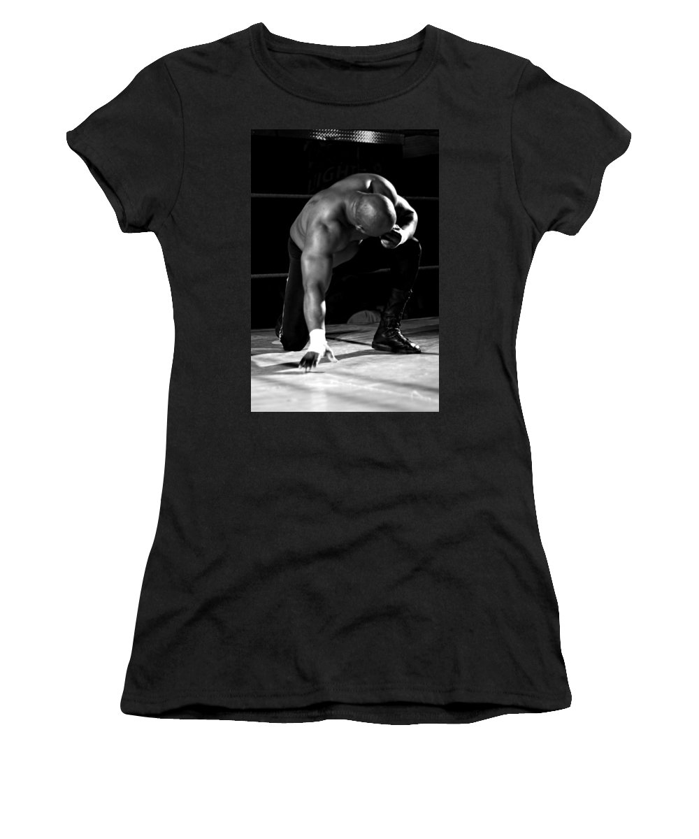 Man Women's T-Shirt (Athletic Fit) featuring the photograph Defeated No. 4 by David Sanchez