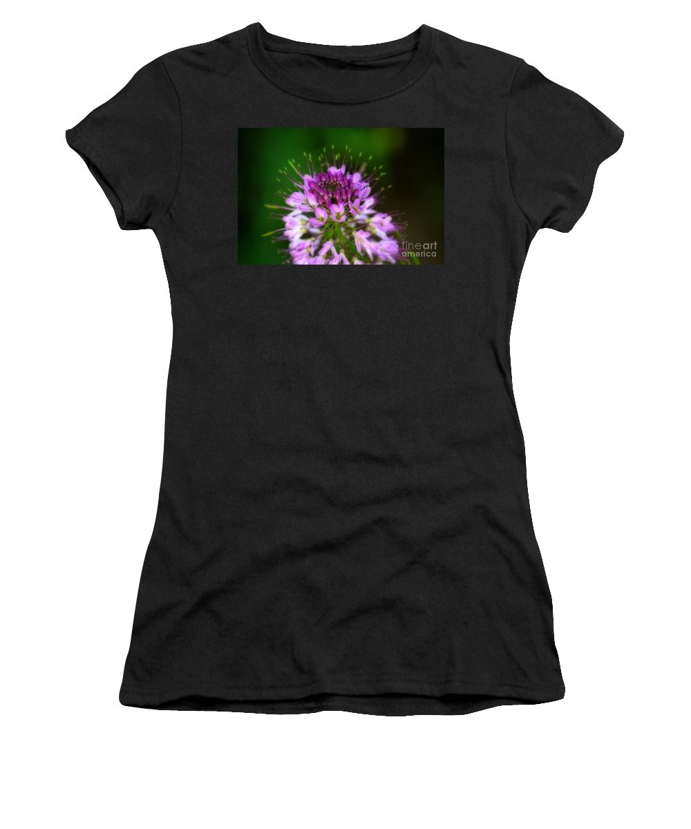Rocky Mountain Women's T-Shirt (Athletic Fit) featuring the photograph Desert Bloosom by Donna Greene