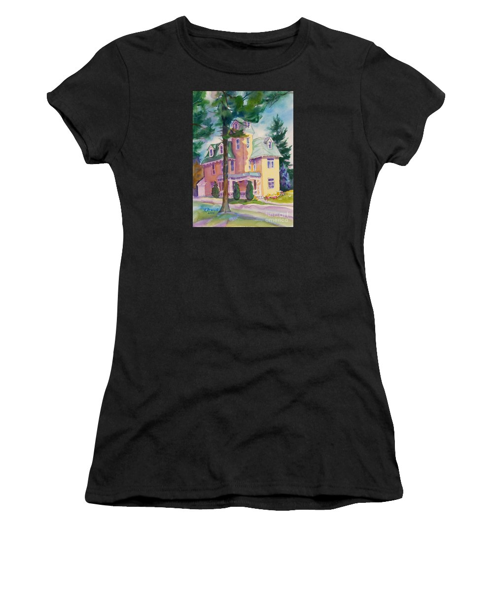 Paintings Women's T-Shirt featuring the painting Dewey-radke Glowing by Kathy Braud