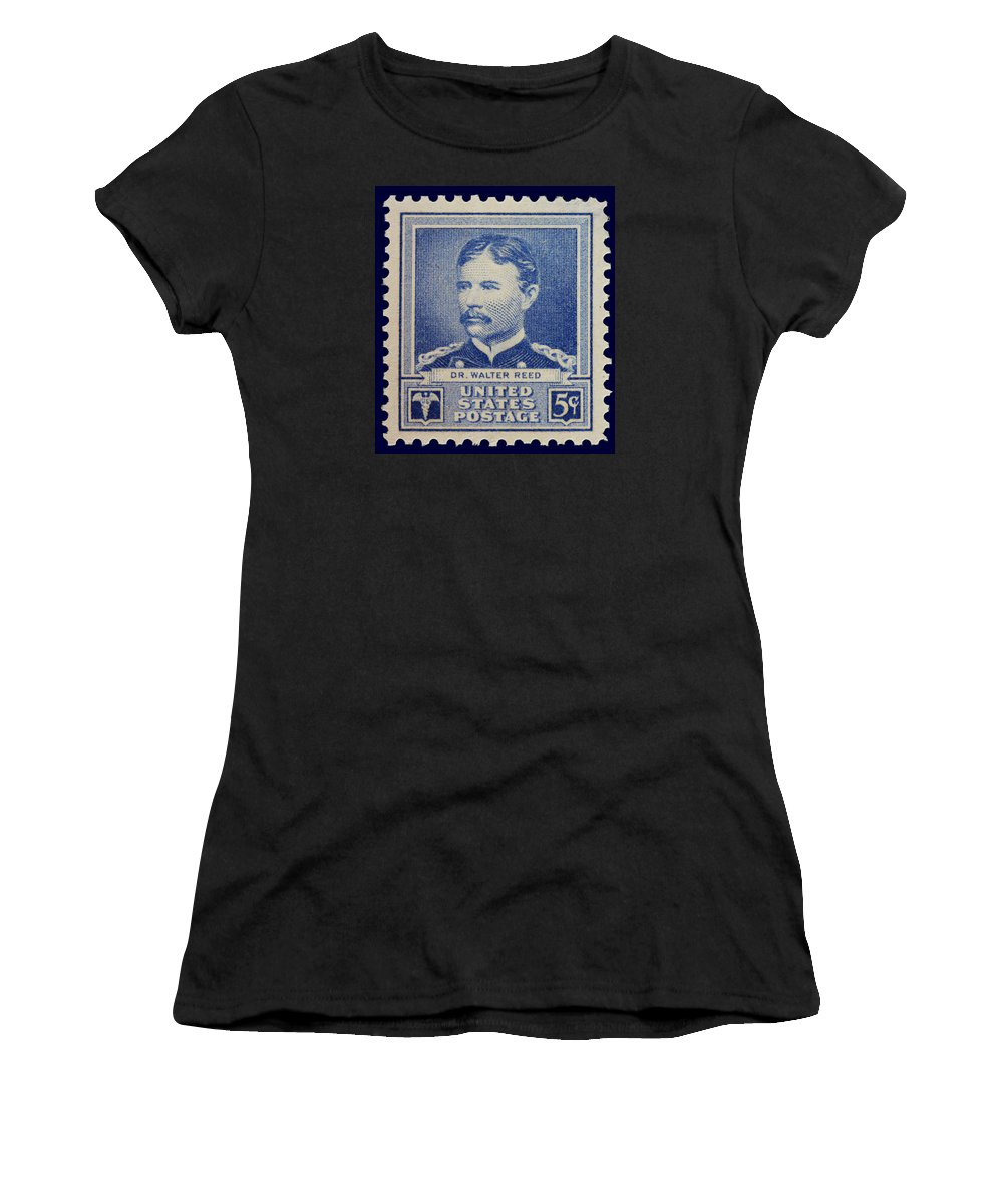 Dr Walter Reed Women's T-Shirt featuring the photograph Dr Walter Reed Postage Stamp by James Hill