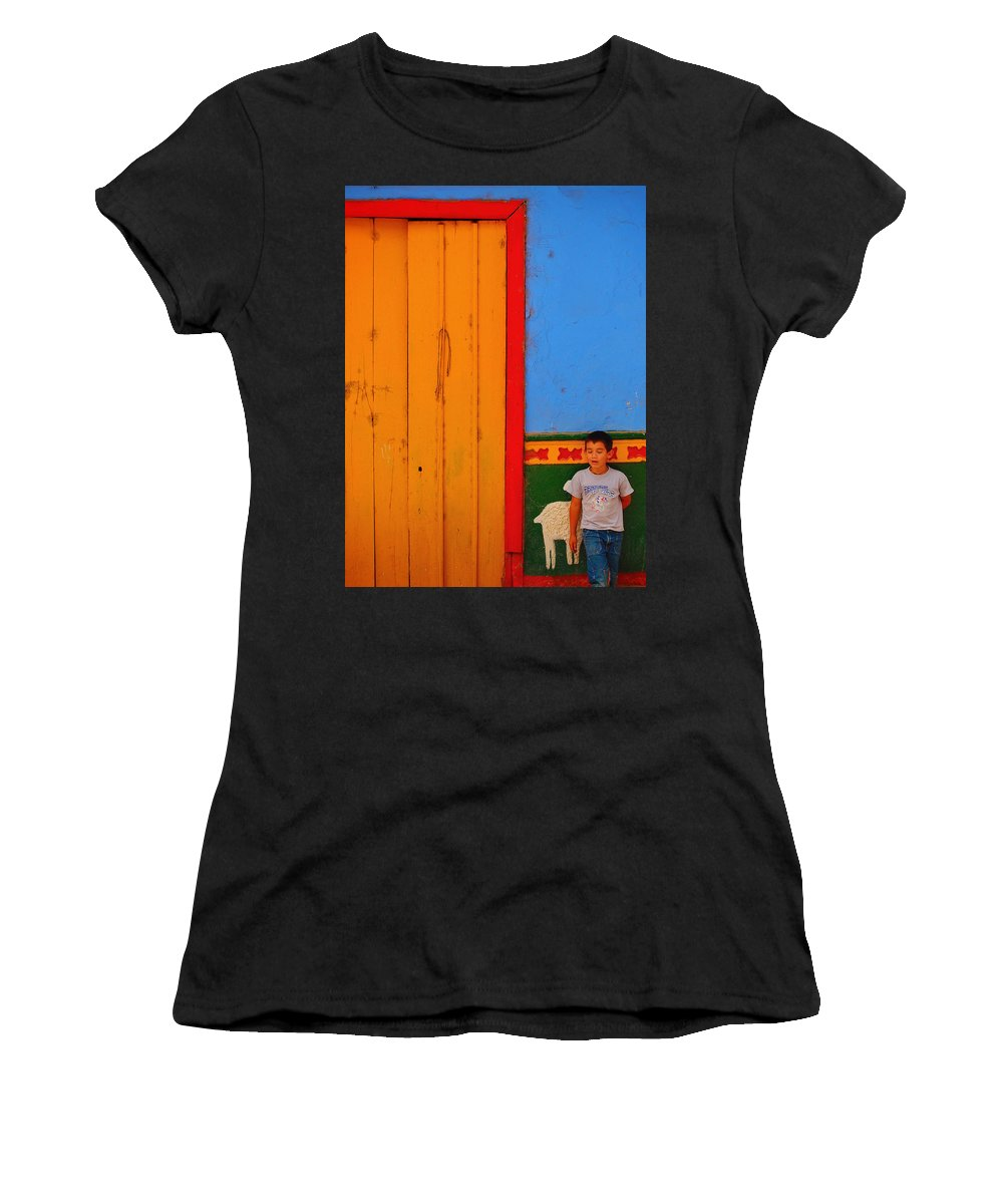 Dreams Of Kids Women's T-Shirt (Athletic Fit) featuring the photograph Dreams Of Kids by Skip Hunt