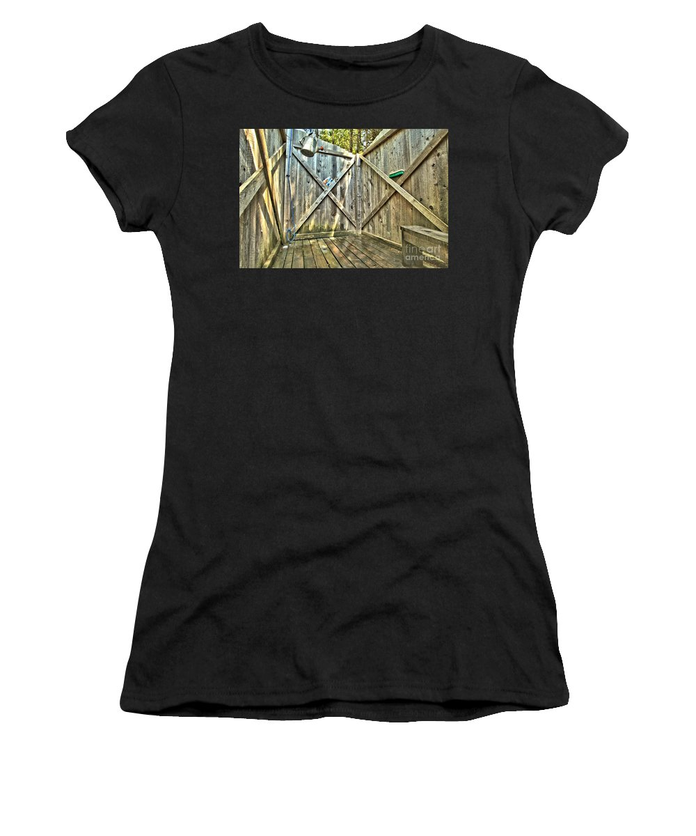 Shower Women's T-Shirt (Athletic Fit) featuring the photograph Eco Shower by Adam Jewell