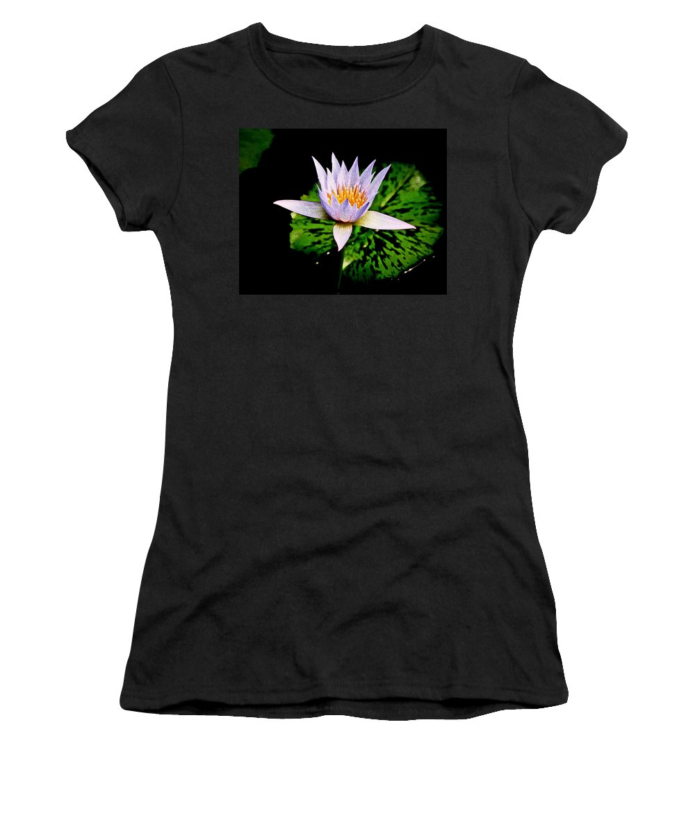 Flowers Women's T-Shirt (Athletic Fit) featuring the photograph Egg Lily by Steve McKinzie