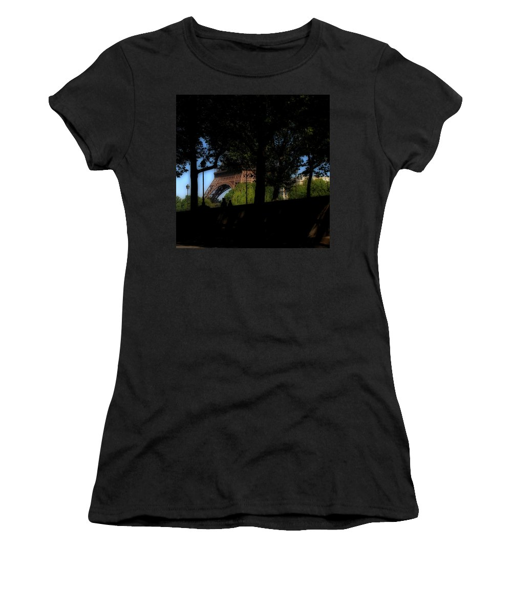 Eiffel Women's T-Shirt featuring the photograph Eiffel Tower Shadows by Andrew Fare