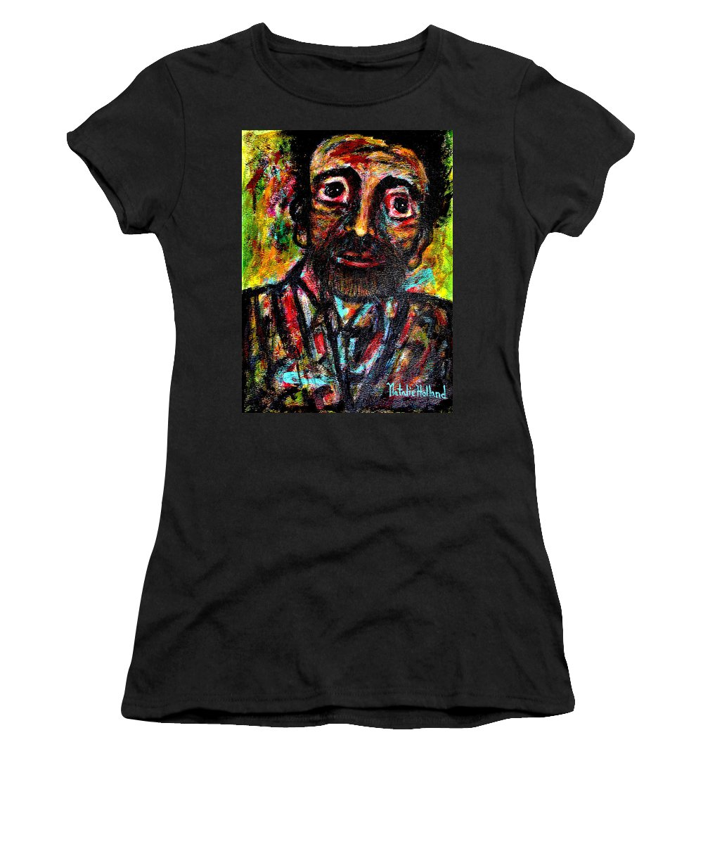 Man Women's T-Shirt featuring the painting Eligible Bachelor by Natalie Holland