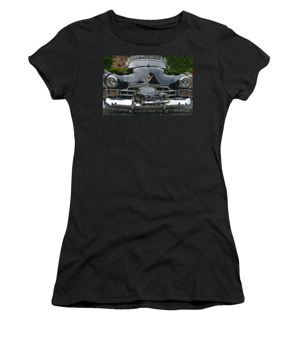 Cars Women's T-Shirt (Athletic Fit) featuring the photograph Extruding Background Classic by Randy Harris