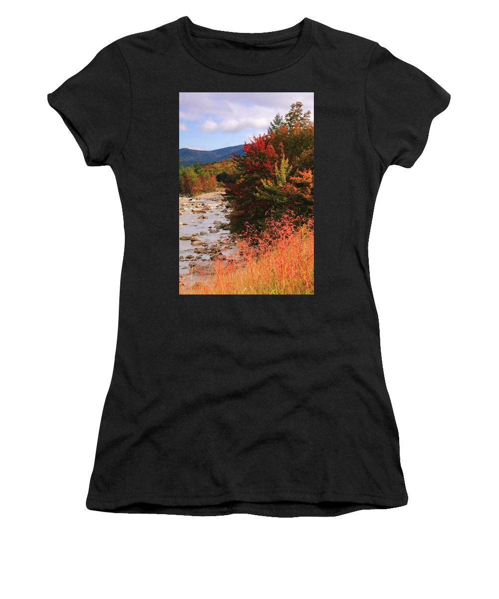 Fall Women's T-Shirt (Athletic Fit) featuring the photograph Fall Color In The White Mountains by Roupen Baker