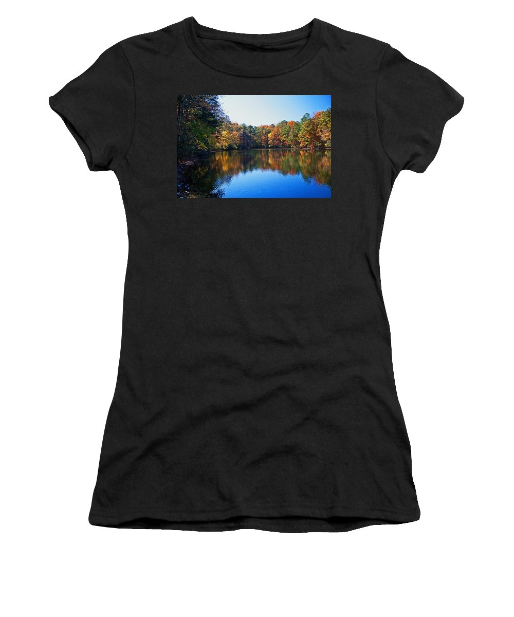 Fall Women's T-Shirt featuring the photograph Fall Colors by David Campbell