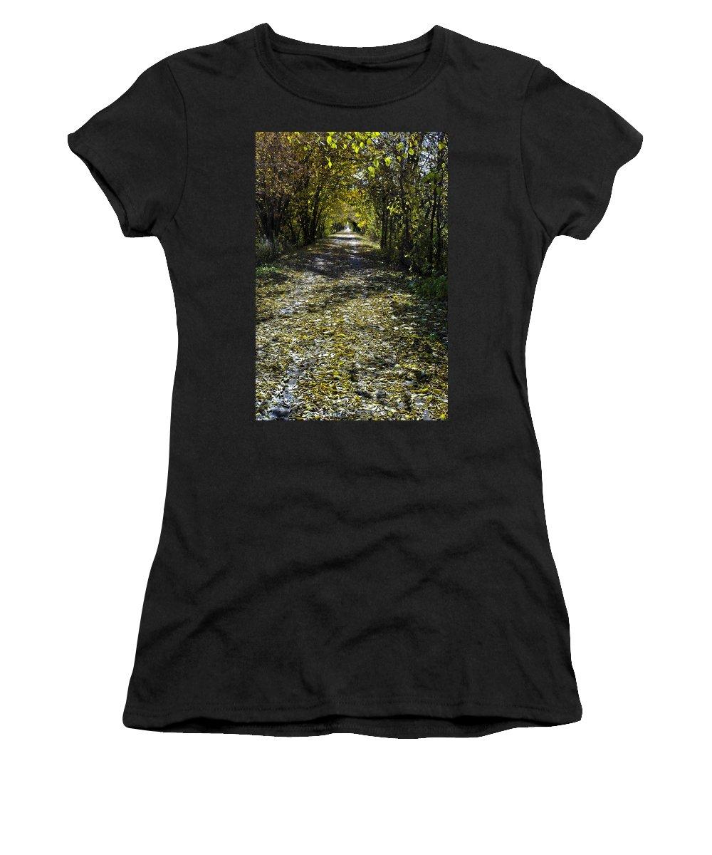 Fall Women's T-Shirt featuring the photograph Fall On Macomb Orchard Trail by LeeAnn McLaneGoetz McLaneGoetzStudioLLCcom