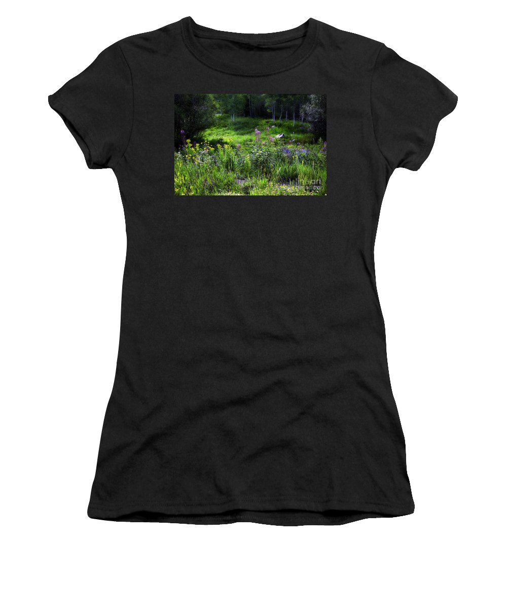 Flowers Women's T-Shirt (Athletic Fit) featuring the photograph Field Of Dreams by Madeline Ellis
