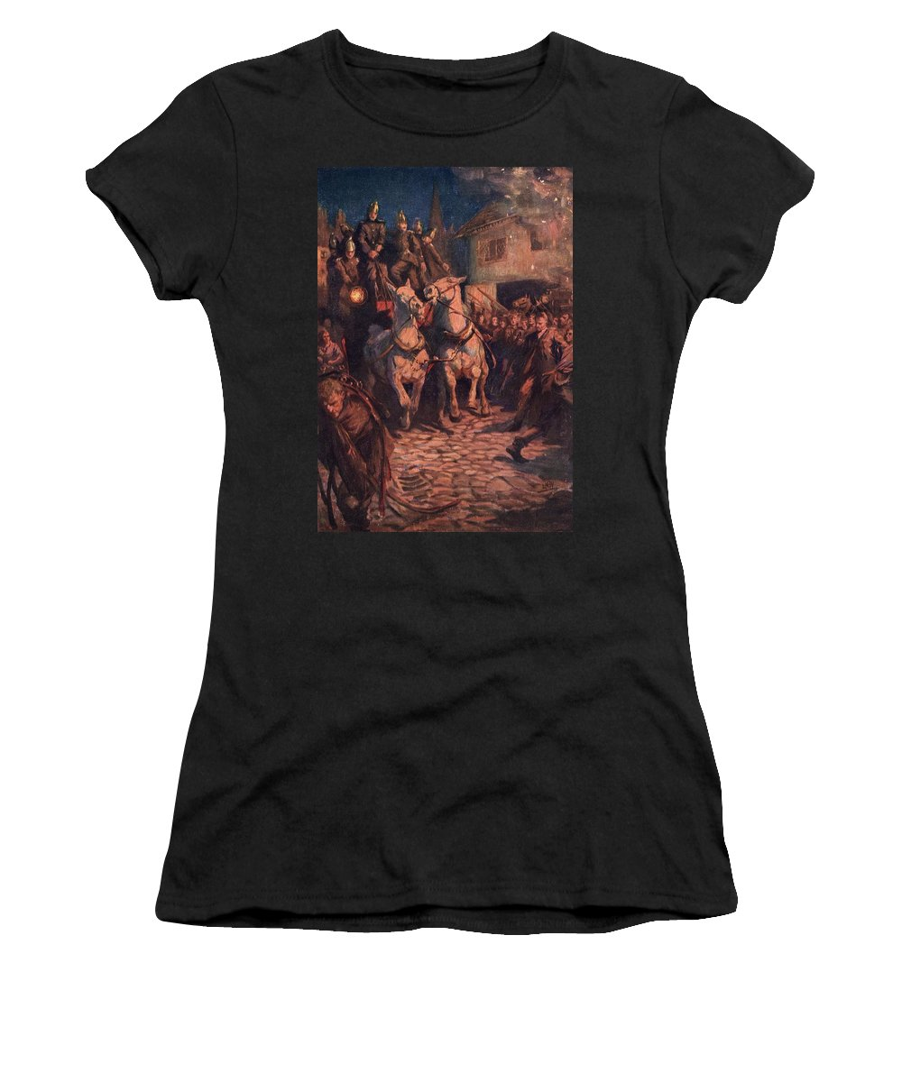 Fire Women's T-Shirt (Athletic Fit) featuring the photograph Fire. Illustration By Lucy Kemp Welch by Ken Welsh