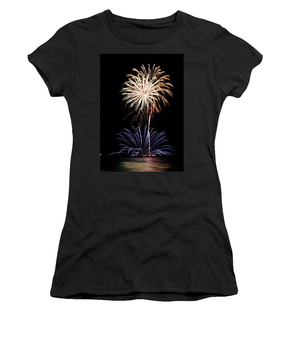 Fireworks Women's T-Shirt featuring the photograph Fireworks Abound by Bill Pevlor
