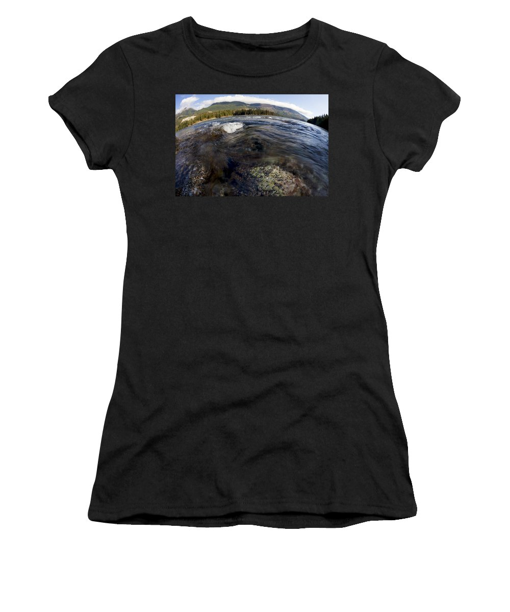 British Columbia Women's T-Shirt (Athletic Fit) featuring the photograph Fisheye Seascape by Dave Fleetham