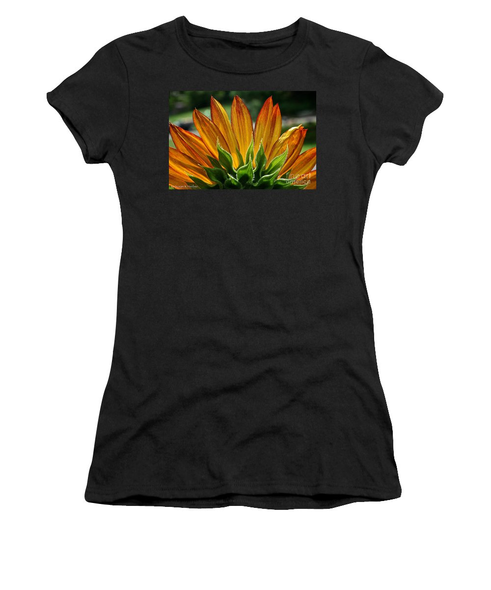 Outdoors Women's T-Shirt (Athletic Fit) featuring the photograph Floral Flaming Fingers by Susan Herber
