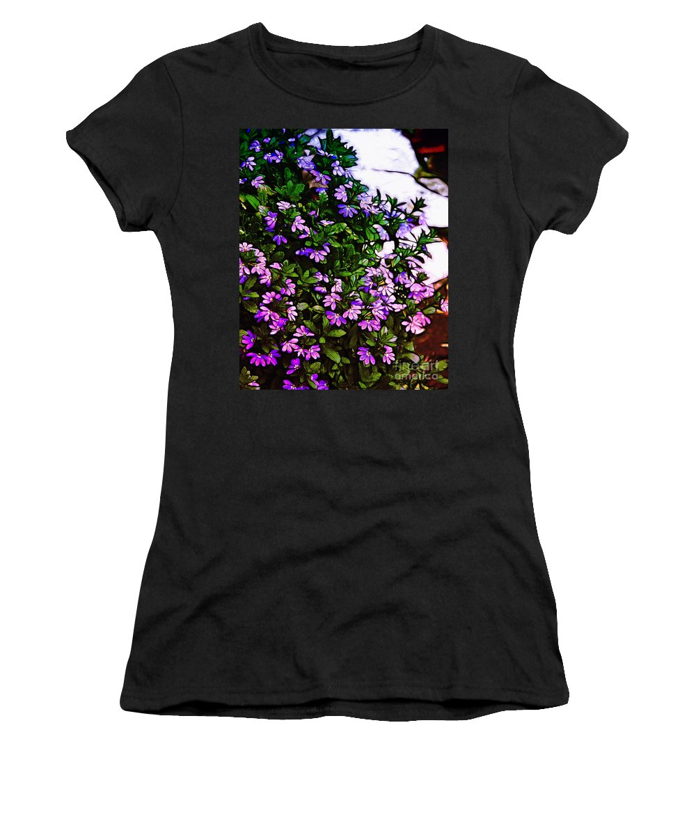 Flowers Women's T-Shirt (Athletic Fit) featuring the photograph Flowers On The Hill by Judi Bagwell