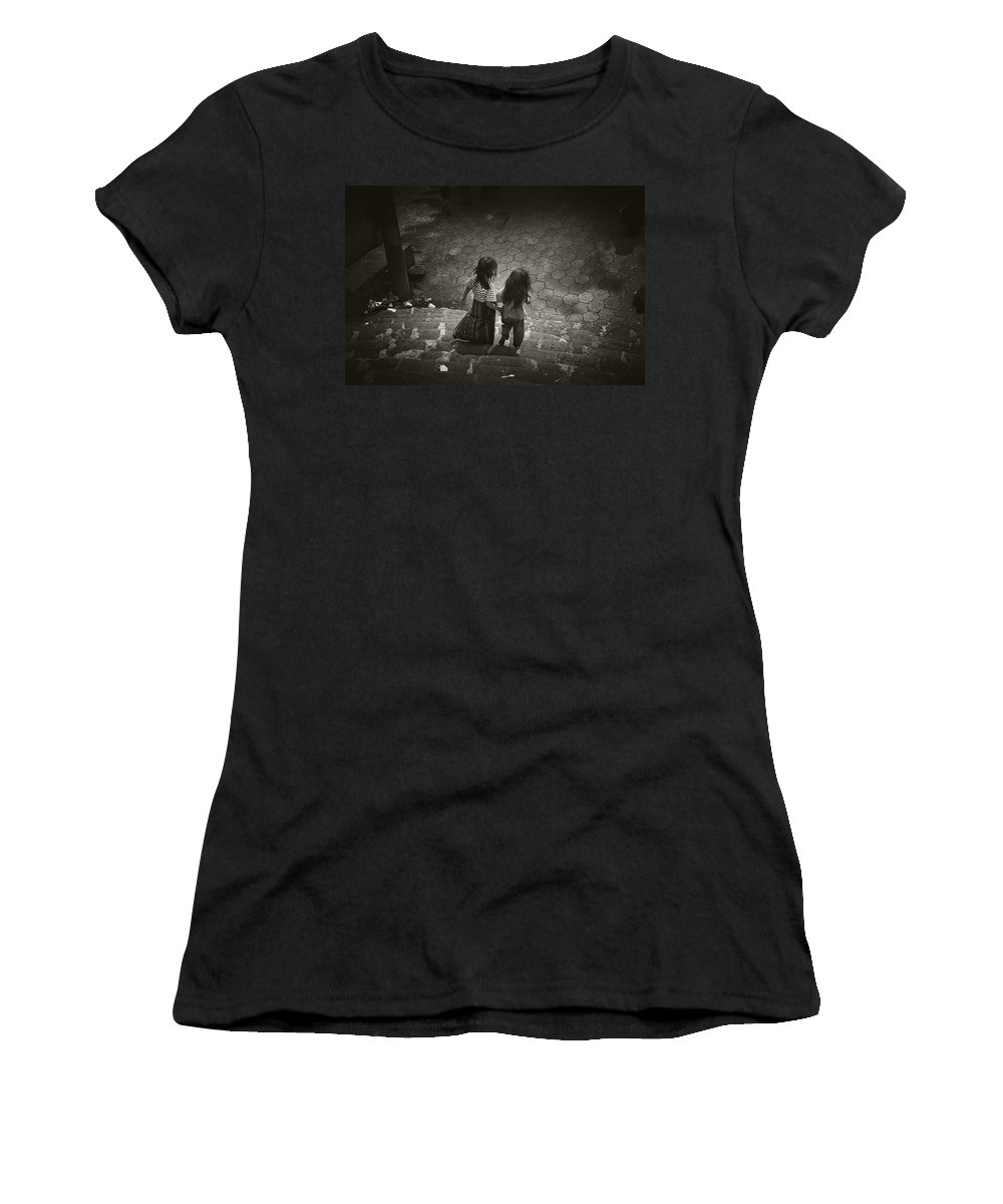 Girls Women's T-Shirt (Athletic Fit) featuring the photograph Friends by Tom Bell