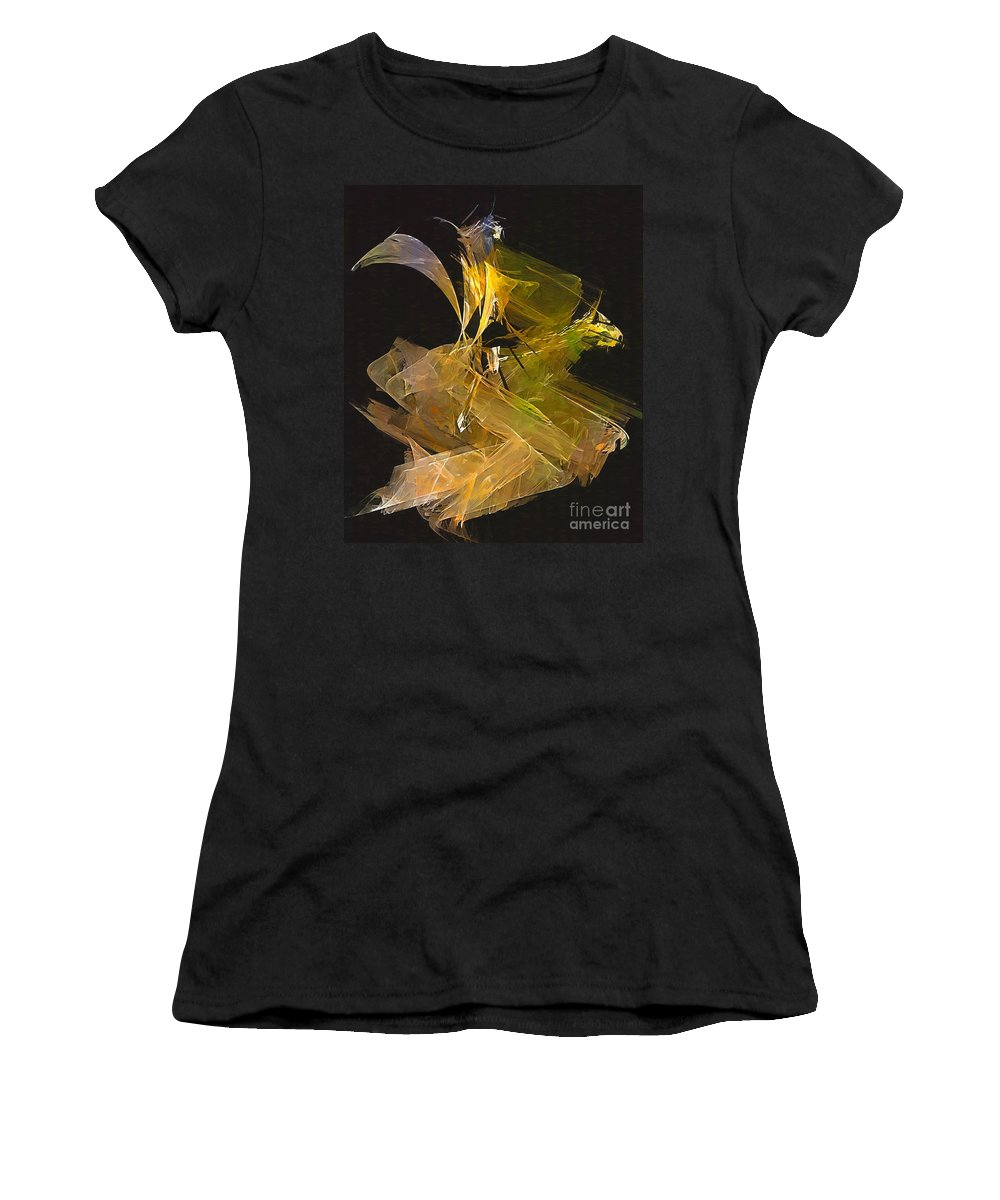 Painting Women's T-Shirt (Athletic Fit) featuring the digital art Gallop by Marek Lutek