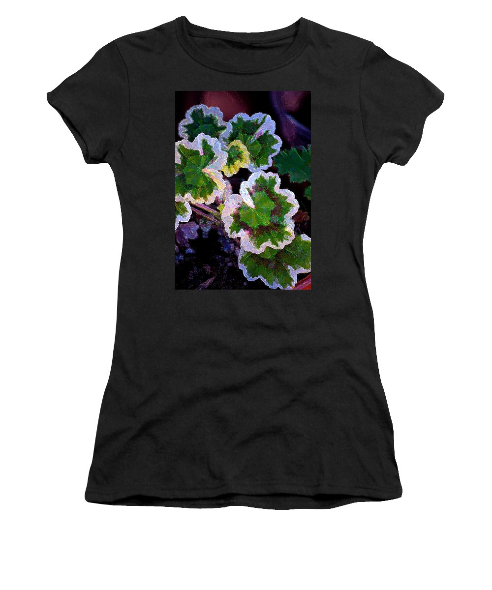 Floral Women's T-Shirt (Athletic Fit) featuring the photograph Geranium 6 by Pamela Cooper