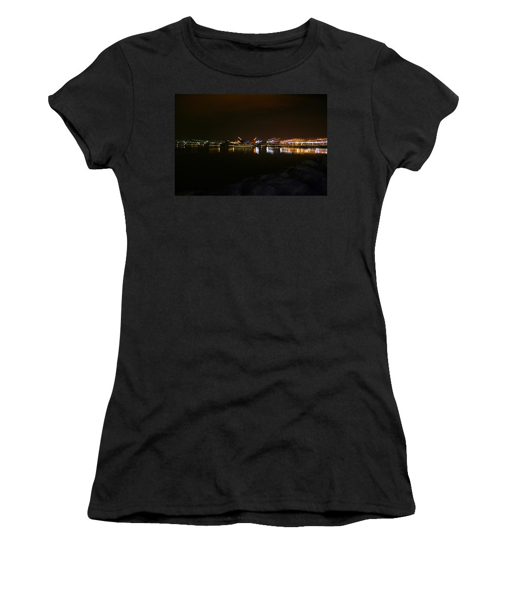 Marina Women's T-Shirt (Athletic Fit) featuring the photograph Gilligan's Place by Phil Cappiali Jr