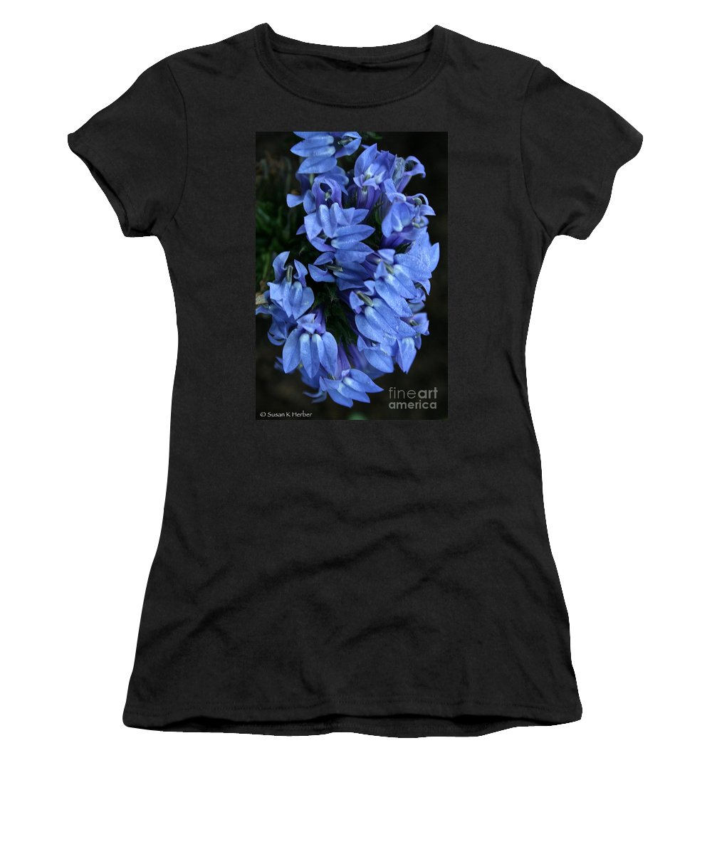 Outdoors Women's T-Shirt (Athletic Fit) featuring the photograph Great Blue Lobella by Susan Herber
