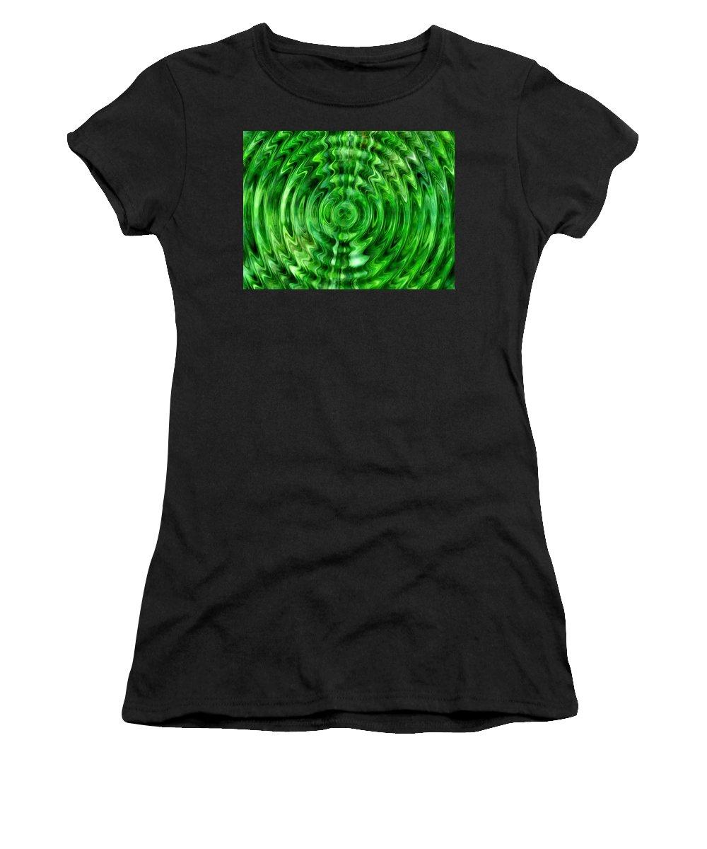 Lehtokukka Women's T-Shirt (Athletic Fit) featuring the photograph Green As Grass by Jouko Lehto