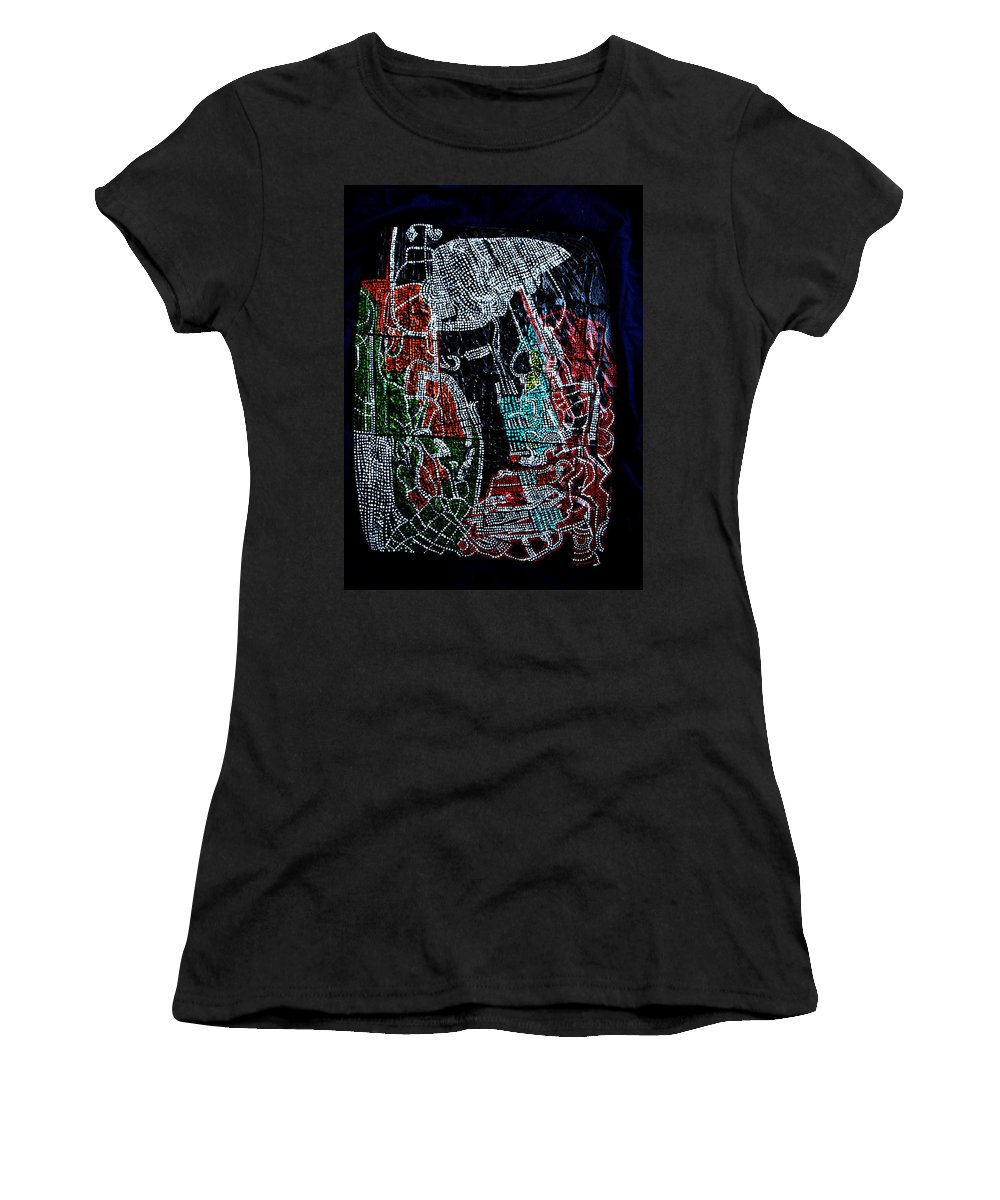 Jesus Women's T-Shirt featuring the painting Guardian Knight Of The Orient by Gloria Ssali