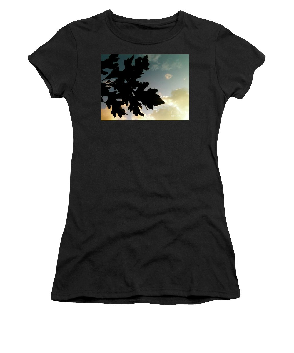 Bandon Beach Women's T-Shirt (Athletic Fit) featuring the photograph Hands Away by Trish Hale