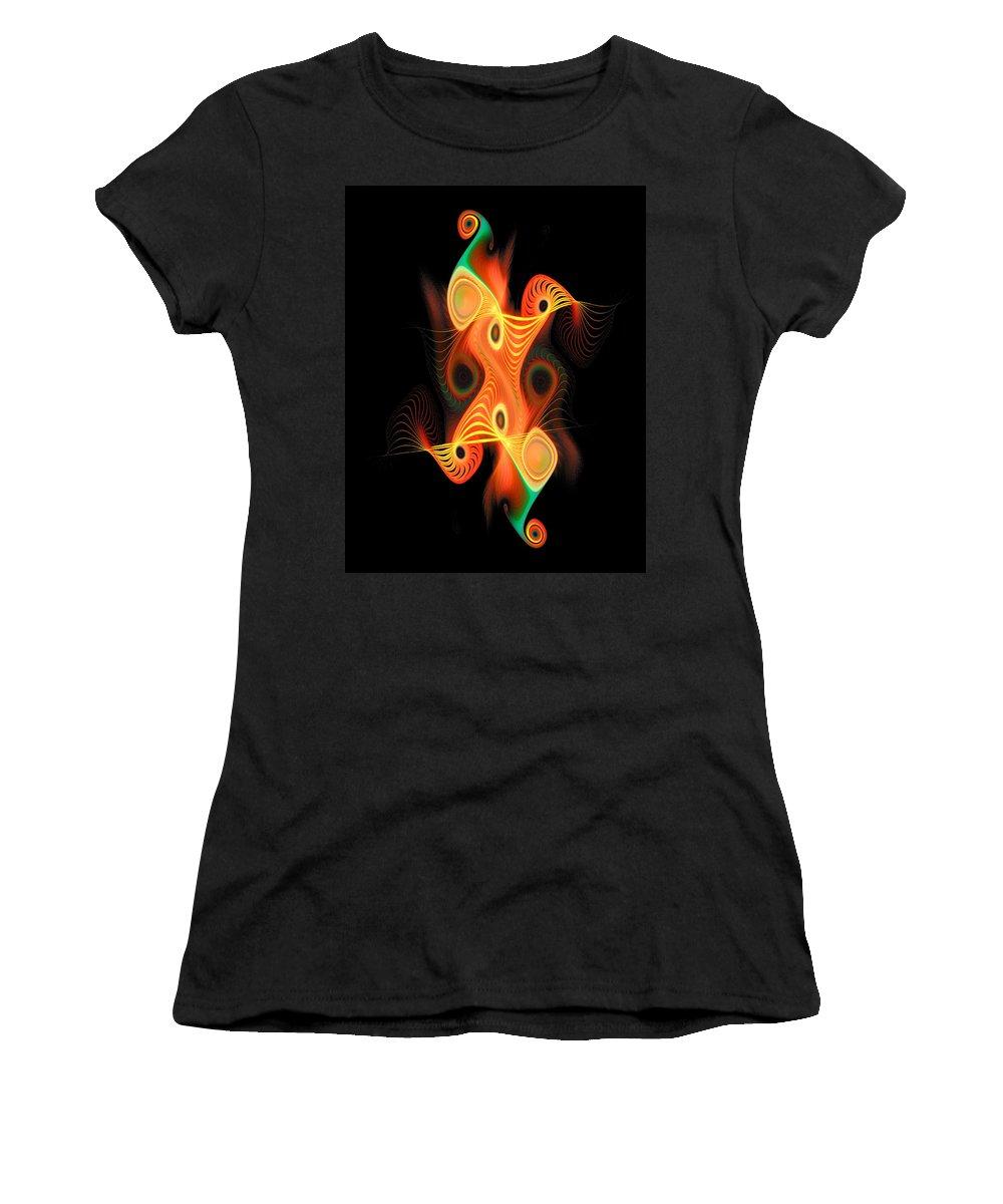 Digital Art Women's T-Shirt (Athletic Fit) featuring the digital art Harlequin by Amanda Moore