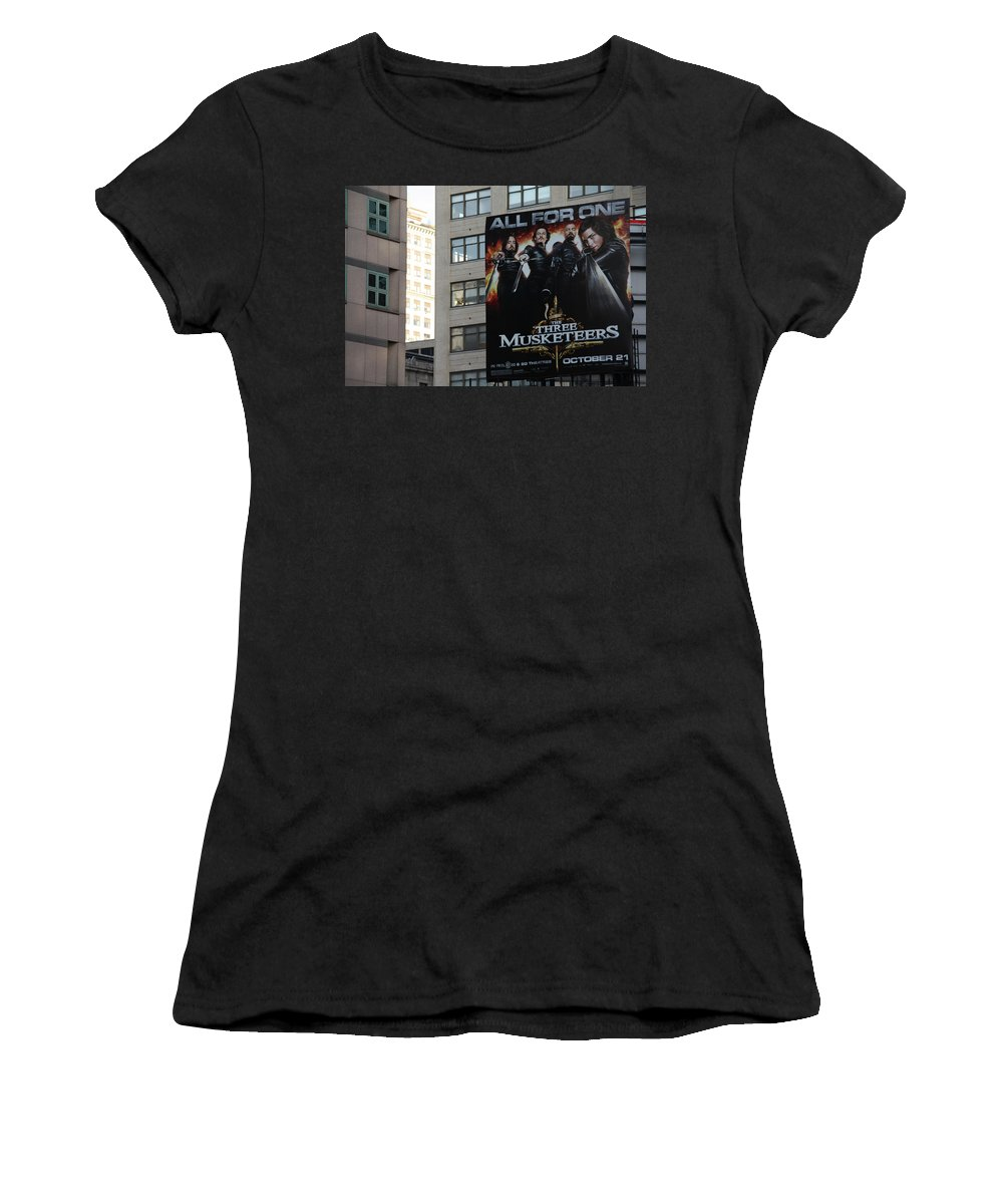 The High Line Women's T-Shirt (Athletic Fit) featuring the photograph High Line Print 34 by Terry Wallace