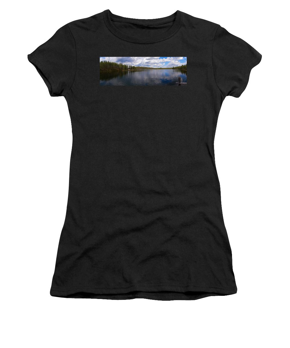 2012 Women's T-Shirt (Athletic Fit) featuring the photograph Huossilampi by Jouko Lehto
