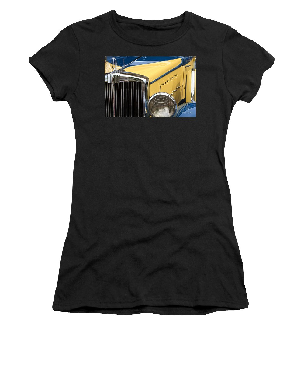 1933 Hupmobile Women's T-Shirt featuring the photograph Hupmobile Grille by Dennis Hedberg