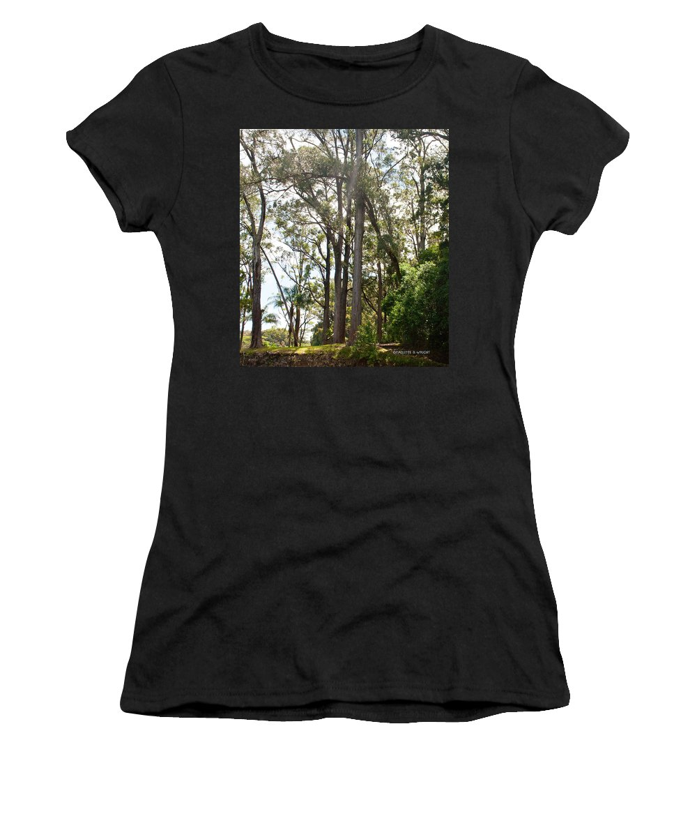 Interior Design Women's T-Shirt (Athletic Fit) featuring the photograph Impossibly Tall by Paulette B Wright