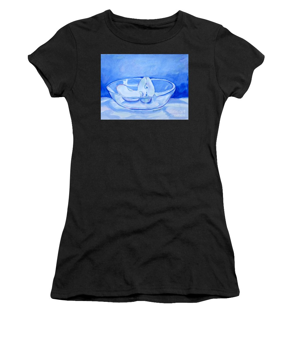 Still Life Women's T-Shirt (Athletic Fit) featuring the painting In Blue by Jan Bennicoff