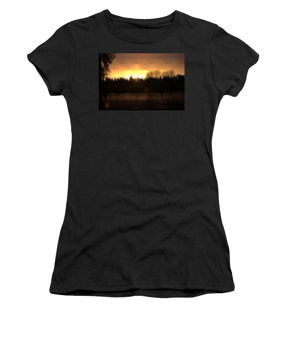 Women's T-Shirt featuring the mixed media Insomnia II by Terence Morrissey