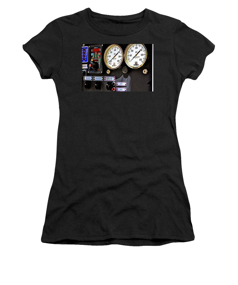 Intake Women's T-Shirt featuring the photograph Intake - Discharge by Bill Owen
