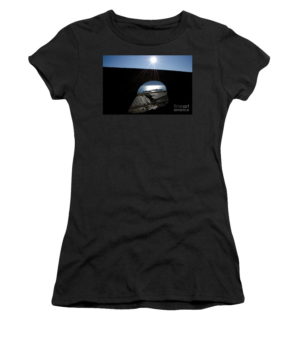 Islands Women's T-Shirt (Athletic Fit) featuring the photograph Islands Watched From An Arch by Mats Silvan