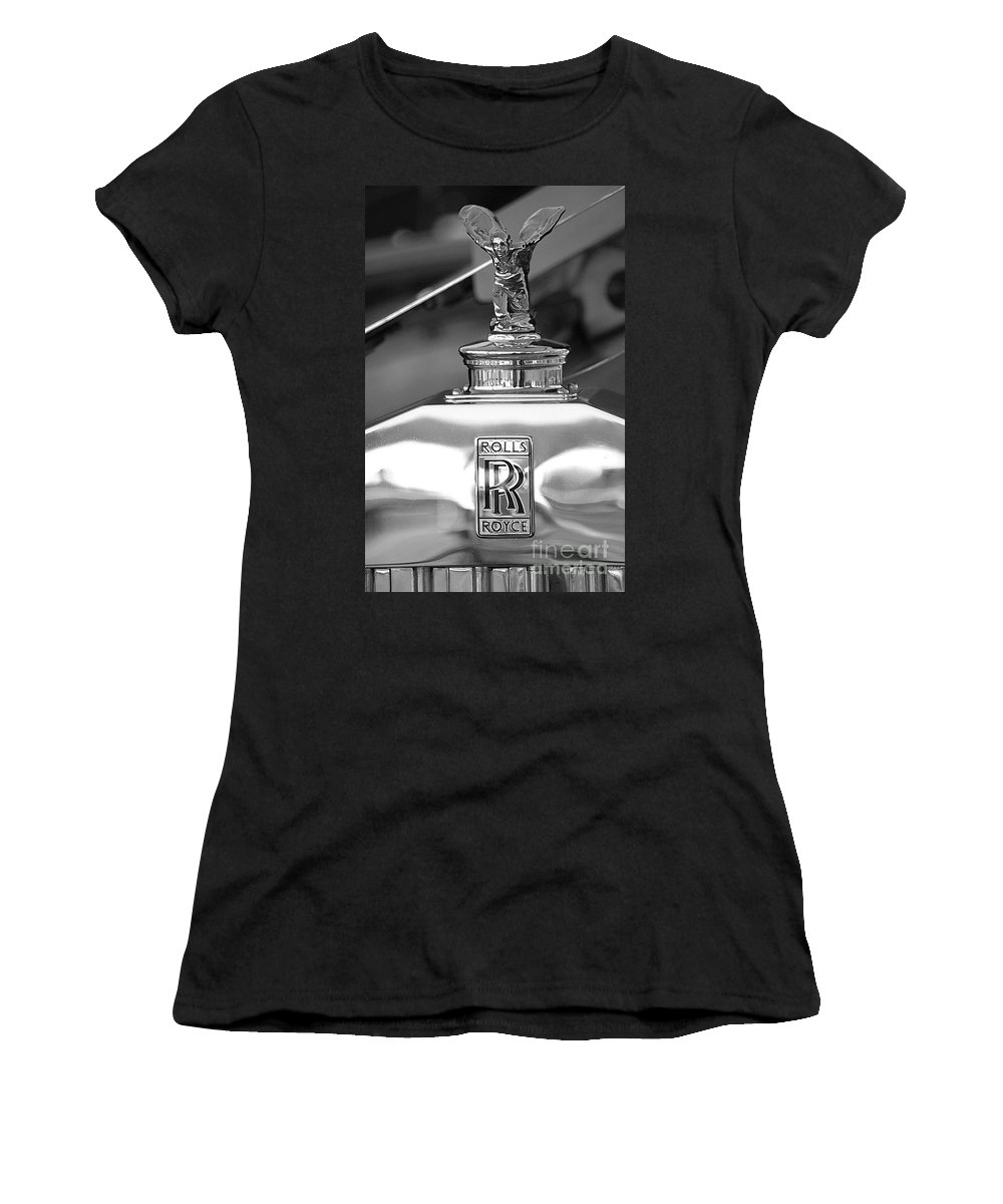 Rolls Royce Women's T-Shirt (Athletic Fit) featuring the photograph It's Only Money by Living Color Photography Lorraine Lynch